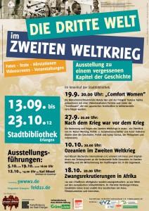 Plakat Ausstellung Die Dritte Welt im Zweiten Weltkrieg Erlangen