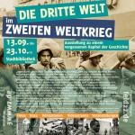 Flyer Ausstellung Veranstaltungen Dritte Welt im Zweiten Weltkrieg
