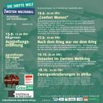 Flyer Innenseite Ausstellung Dritte Welt im Zweiten Weltkrieg