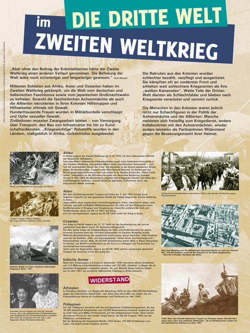 Ausstellungstafel 8. Mai - 3. Welt im 2. Weltkrieg